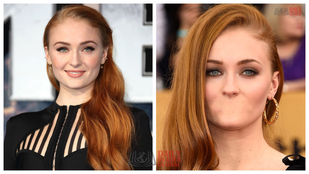 Sophie Turner without a mouth