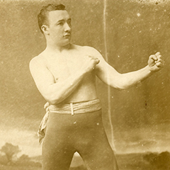 Undefeated world champion Jack McAuliffe