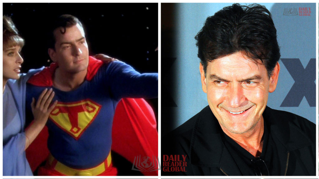 Charlie Sheen as Superman