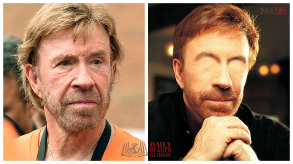 Celebrities without Eyes - Chuck Norris without eyes