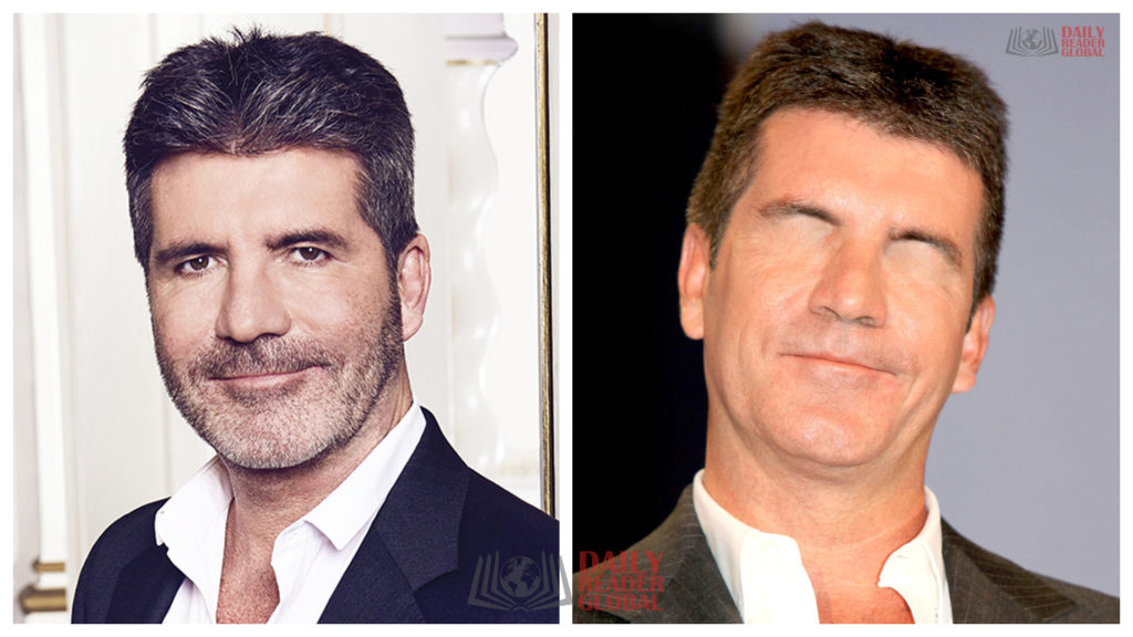 simon cowell without eyes
