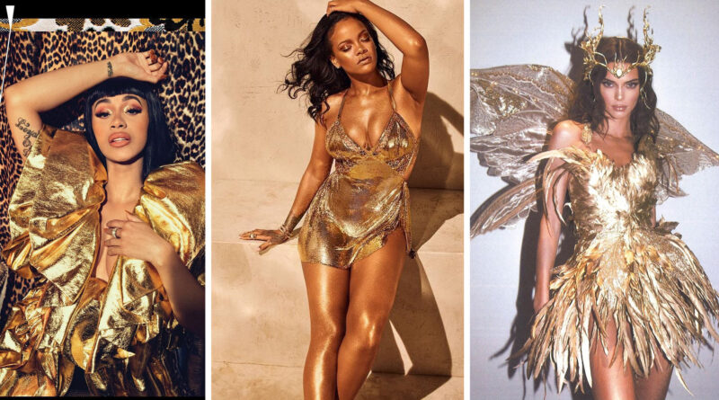 Celebrity Gold Dresses 2020 - Who wore gold better?