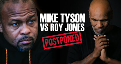 Mike Tyson vs Roy Jones 2020 Postponed